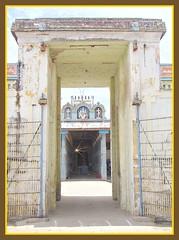 Humble entrance to Konerirajapuram temple (Indianature so) Tags: sculpture india art heritage history temple mural culture shiva nataraja siva fresco tamil tamilnadu inscription chola nagapattinam dravidian kumbakonam chozha indianature cholatemple southindiantemple mayiladuthurai cholakingdom sivankoil ancientinscription dravidiantemple umamaheswarartemple tamilheritage dravidianheritage konerirajapuram thirunallam umamaheswarar sembiyanmahadevi gnanaskandan snonymous worldslargestbronzenataraja tirunallam spudur chembiyanmahadevi chozhanadu bronzenataraja cholainscription