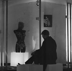 Les complots nocturnes (lizardking_cda) Tags: light portrait bw sculpture woman man france art film mannequin statue museum tom night analog underground ceramic french noche spring nice model doll poetry artist riviera gallery nacht lumière contemporary femme performance galerie côte musée nb hasselblad exposition voyeur medium format torso cave nuit ilford printemps notte voyeurism espace usine nizza azur homme association torse argentique céramique peeping watcher buste atelier vitre artiste poésie nissa voyeurisme poupée contemporain moyen poètes delta3200professionaldp3200 carréfrançais museaav muséeusineespaceartactuelvirtuel silvausta
