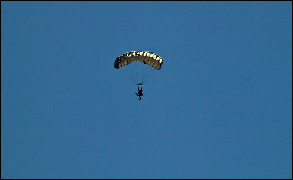 Navy Seal In Scuba Gear With Parachute