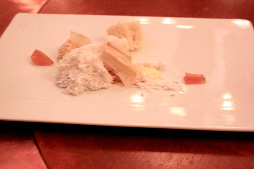 Town House, Chilhowie, VA, July 2010 - Parsnip Candy with Aerated Coconut, Yeast Sponge, Banana, Maca Crumbs, and Lemongrass