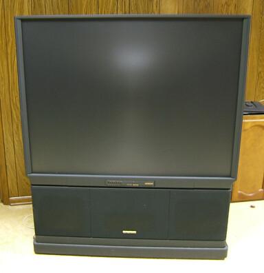 """Hitachi Ultravision 60"""" TV front"""