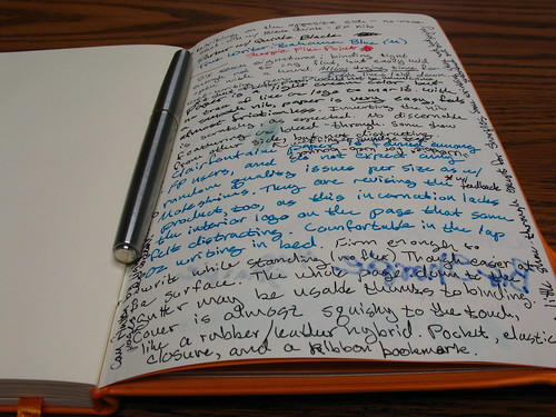 Testing the pen-friendliness of a Rhodia large webbie