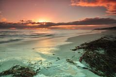 Hilarys sunset (miffage) Tags: sunset sea sky beach water clouds nikon long exposure waves tide sigma australia perth 1020mm d90