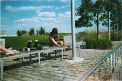 \\\\\ (M I S C H E L L E) Tags: newyorkcity sun feet girl clouds elizabeth lawn cobblestone