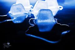 Liquid Ice (Senzio Peci) Tags: blue italy stilllife ice water italia cube sicily acqua liquid sicilia patern intothedeepofmysoul