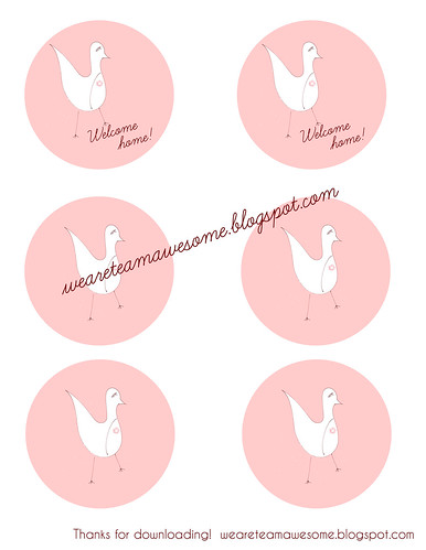 Welcome Home Tag printable