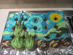 Van Gogh Cupcakes Take #2