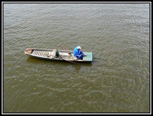 Angler auf der Moldau