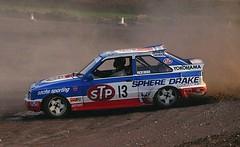 John Welch - STP Ford Escort , Lydden Euro Rallycross 1987