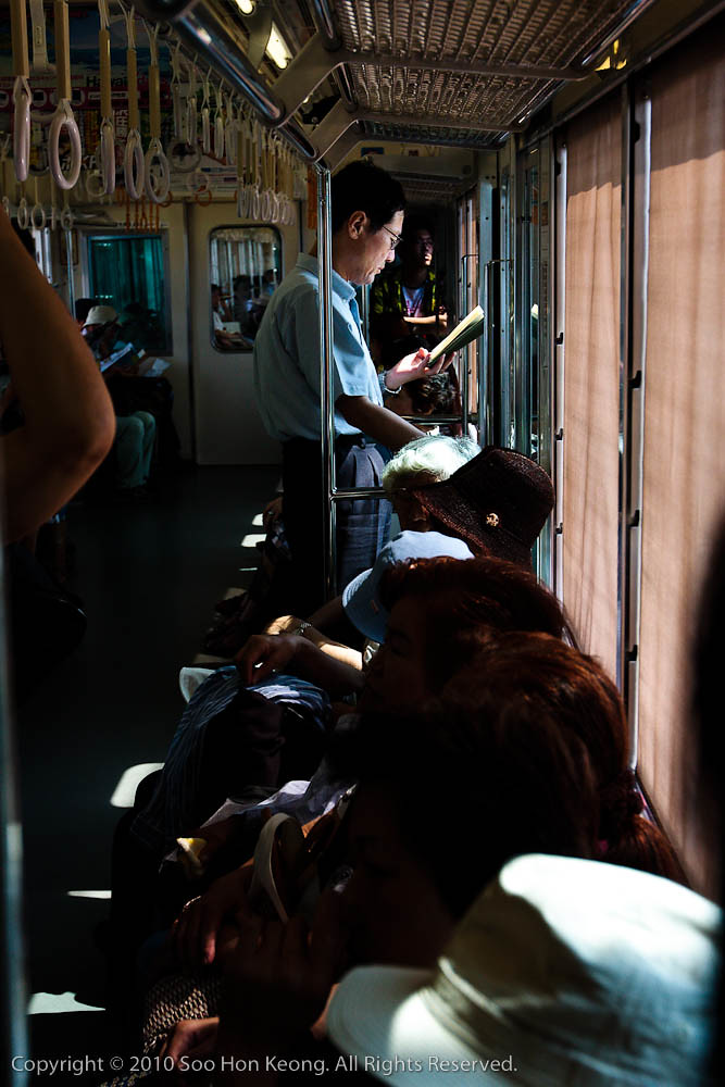 Reading on the Train @ Tokyo, Japan