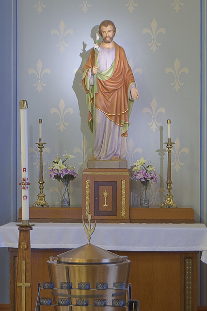 Saint Anthony Roman Catholic Church, in Lemay, Missouri, USA - altar of Joseph