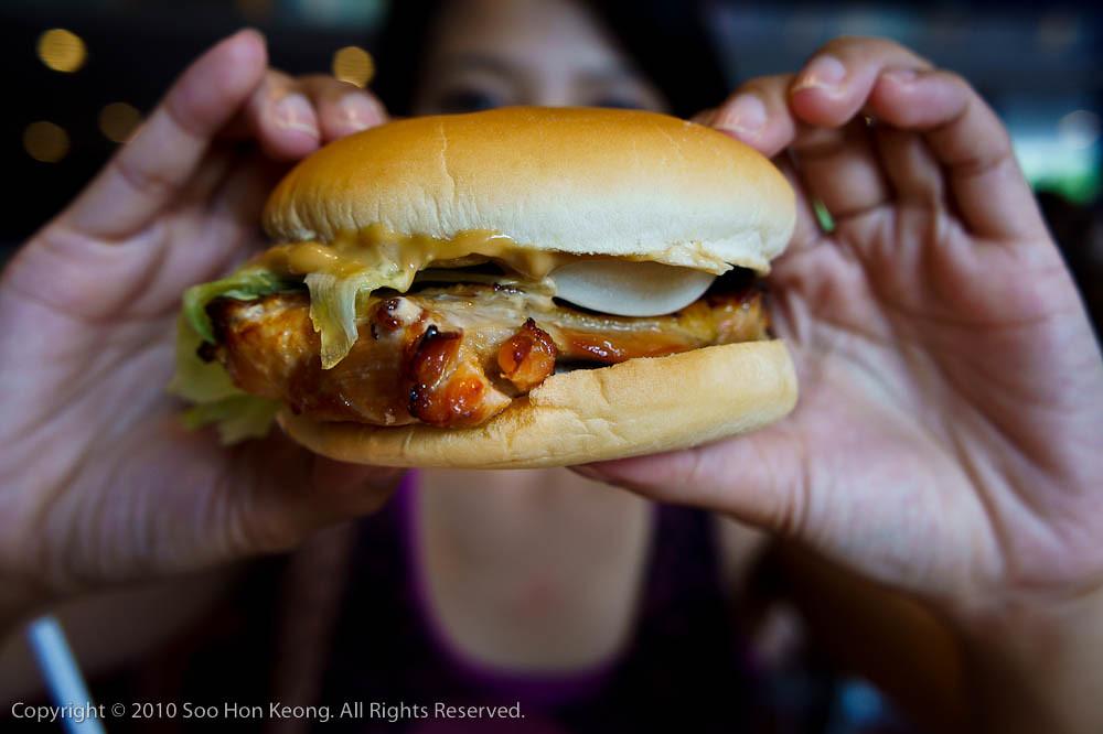 Chicken Teriyaki Burger @ Tokyo Disneyland, Tokyo, Japan