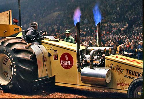 A custom pulling tractor