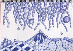 ballpoint doodle (Jo in NZ) Tags: pen ink drawing line doodle zentangle nzjo zendoodle