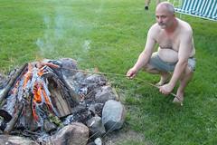 Darrell's Second Attempt (canadianlookin) Tags: friends summer rural outdoors august manitoba bonfire hotdogs supper vita 2010