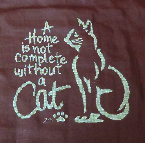"""A home is not complete Without a cat"""