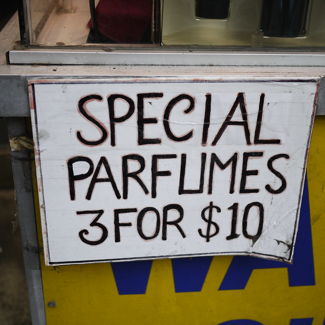 Special Parfumes, 3 for $10 #walkingtoworktoday