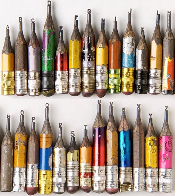 tipografías talladas en lápiz