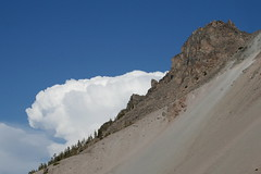 marshmallow clouds at chaos crags (saramarie) Tags: california park cloud mountain chaos national volcanic crags lassen