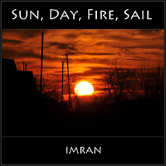 Sun Day Fire Sail - IMRAN™ White Hot Sun Sets On Stunning Fiery Red Sky With Sailboat Masts In Silhouette On Long Island, NY — 1100+ Views! (ImranAnwar) Tags: clouds landscapes longisland marine nature night outdoors red silhouette sky sunset yellow