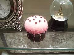 Cupcake Pin Cushion (Gviolet2010) Tags: pink brown pin pins cupcake pincushion etsy needles cushion cushions upcycle