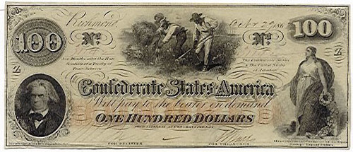 Confederate $100 Hoer Note T41