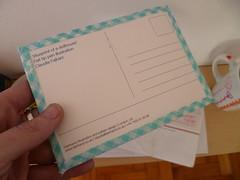 Verso do cartão postal