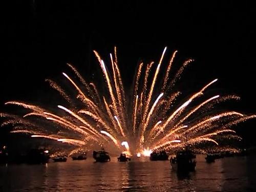 宮島水中花火大会 2010 画像