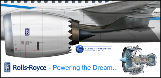 Boeing 787-8 Dreamliner Rolls Royce Trent 1000 - Powering the Dream