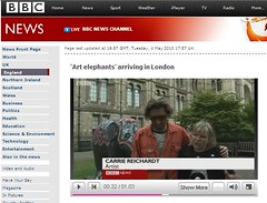 BBC News document the craftivist elephant (craftivist collective) Tags: craftivism craftivistcollective media blogs magazines rwd runriot ukdiy ameliasmagazine picapica iamcherrygirl ctrlaltshift mrxstitchwebsite