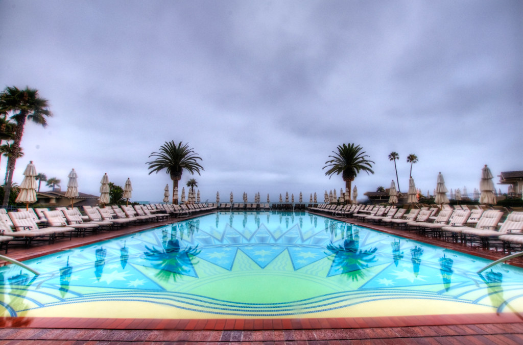 The pool at the Montage in Laguna Beach.