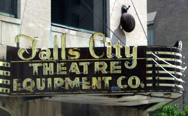 Falls City Theater Equipment Co. neon sign