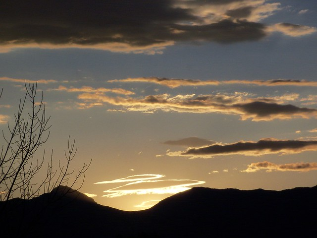 Sunrise over the Bridger Mountain Range