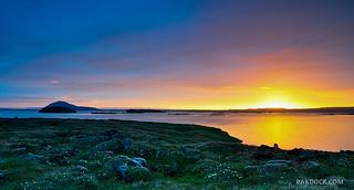 Midnight sun at Myvatn