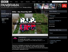 BBC Panorama investigation on wills - no longer exists