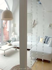 Lounge area from the stairs... (Iro {Ivy style33}) Tags: white ikea simple whiteonwhite ourhome mydaytoday vintagewallpaper thepenthouse naturalmaterials naturaltones welivehere goldenhues sofacorner homewithivy loungeareafromthestairs
