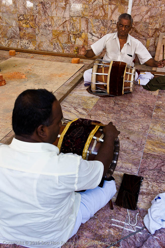 Musician at the Newly Renovated Sri Maha Mariamman Temple Dhevasthanam, KL, Malaysia