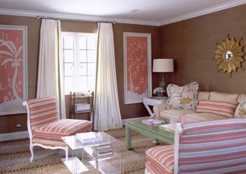 Ruthie Sommers Interiors - Pink Living Room