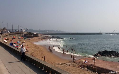 Uma praia da cidade do Porto