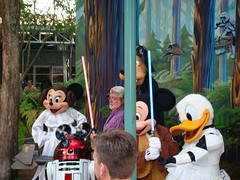Last Tour to Endor: George Lucas Publicity Shoot (partyhare) Tags: goofy fan starwars photoshoot disney event disneyworld princessleia mickeymouse stormtrooper backdrop characters lightsaber minniemouse wdw waltdisneyworld dhs donaldduck georgelucas startours endor bikerscout disneycharacters jedimickey celebrationv disneyshollywoodstudios r2mk lasttourtoendor