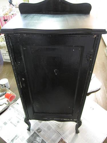 Old Black Cabinet