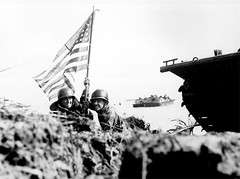 Guam Invasion (Saipan Pictures) Tags: world ocean old beach soldier army island us marine war pacific flag wwii attack craft battle assault landing tropical ww2 historical battlefield tropics guam marianas cnmi