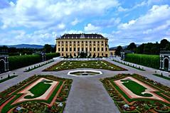 Schonbrunn Palace,Vienna: View from Privy Gardens... (-Reji) Tags: vienna family gardens facade garden nikon view royal august palace east summerpalace residence austrian vast privy hapsburg d90 schinbrunn viennavisit viennatrip august2010