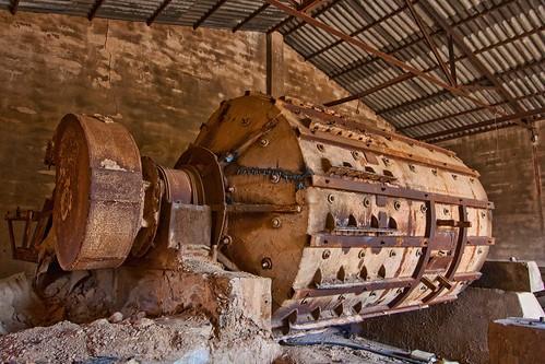 Creo que es un motor de extracción en mina de plata abandonada