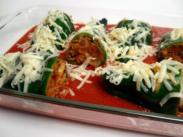 Kacey's Kitchen - Chorizo Stuffed Poblano Peppers 2