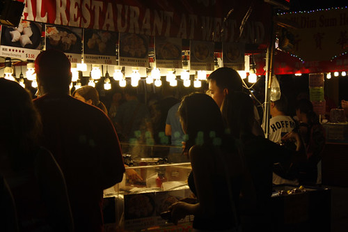 busy food booths