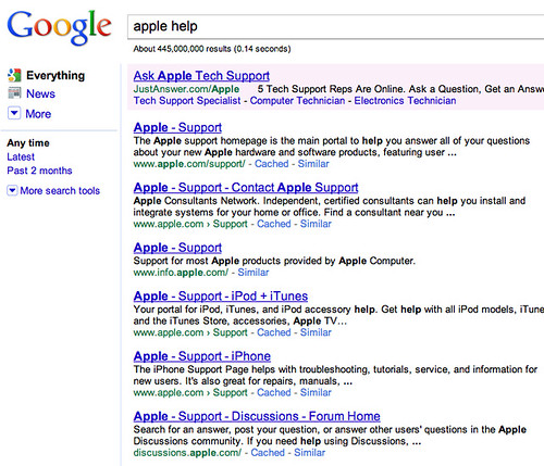 Brand Names & Search Terms in Google