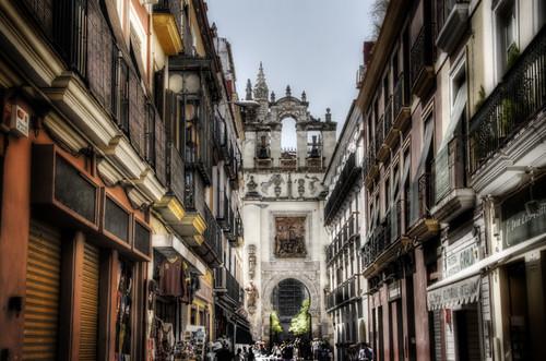 Seville street. Calle de Sevilla