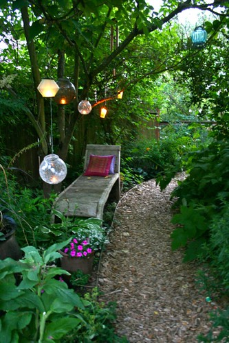 lighting in the garden
