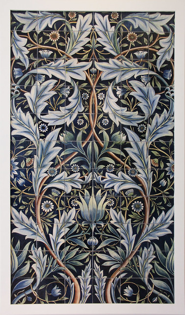 Tile Panel - designed by William Morris, made at the William De Morgan pottery, 1876